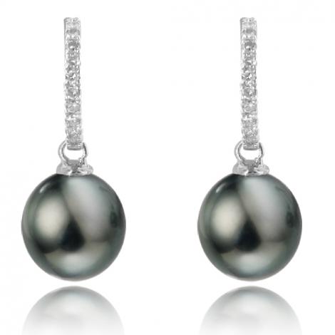 Boucle perle de Tahiti - 8-9 mm-Marina- ref B11102