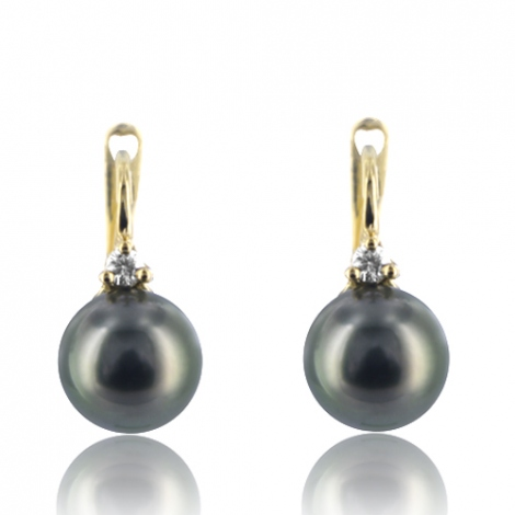 Boucle perle de Tahiti - 8-9 mm-Mélodie- ref B16905