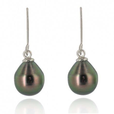 Boucle perle de Tahiti - 9-10 mm-Geneva- ref B12233