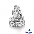 Boucles d'oreilles argent et oxydes blancs Naiomy Silver -  - Lola - N3A04
