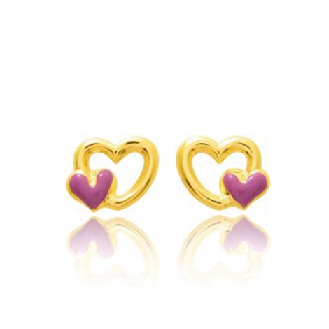 Boucles d'oreilles Cœur Or Jaune Laélia - 650095