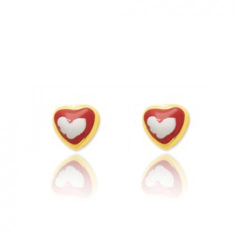 Boucles d'oreilles Cœur Or Jaune Naïs - 650037