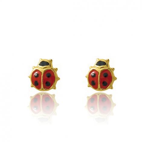 Boucles d'oreilles Coccinelle Or Jaune Infinie - 650090