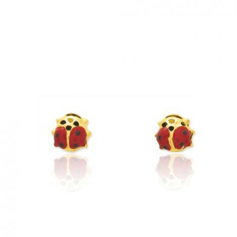 Boucles d'oreilles Coccinelle Or Jaune Zoélie - 650034