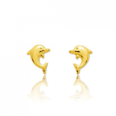 Boucles d'oreilles Dauphin Or Jaune Thalicia - 650084