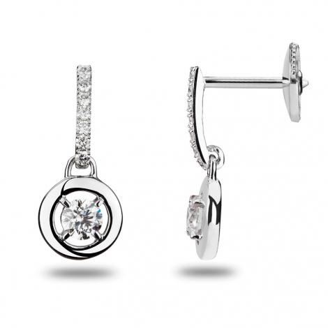 Boucles d'oreilles diamants 0.10 ct -Lauriane - 32231