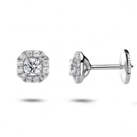 Boucles d'oreilles diamants 0.10 ct -Manava - 32802