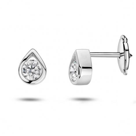 Boucles d'oreilles diamants 0.10 ct -Rebecca - 32024