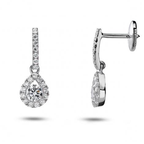Boucles d'oreilles diamants 0.10 ct -Sauvahna - 32801