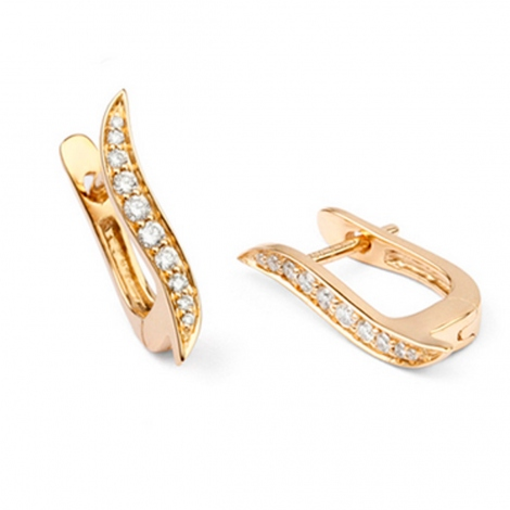 Boucles d'oreilles diamants 0.21 ct -Narah - E5681FMGPNY00