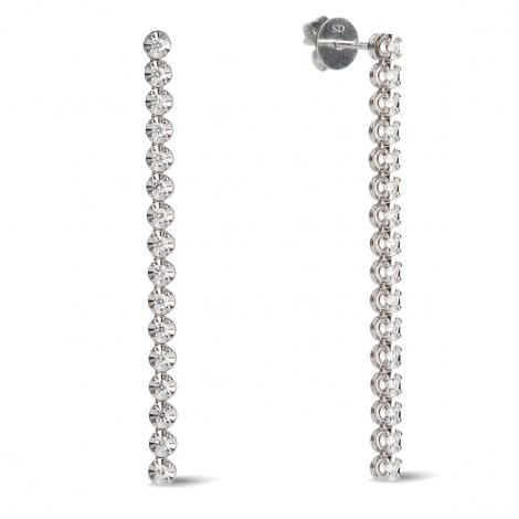 Boucles d'oreilles diamants 0.35 ct - - HSE2001PR
