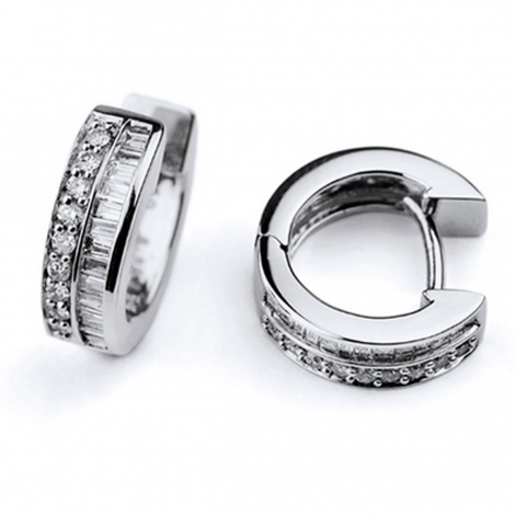 Boucles d'oreilles diamants 0.36 ct -Elodie - E3261FMPWA200
