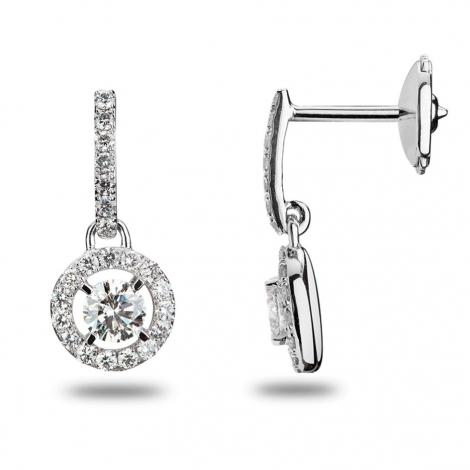Boucles d'oreilles diamants 0.48 ct -Océanie - 32230
