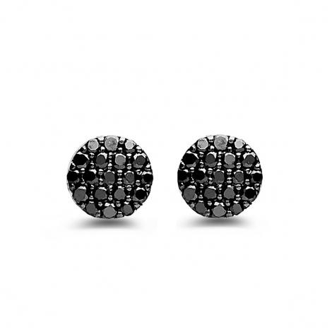 Boucles d'oreilles diamants noirs One More - Eolo 93FK08A2