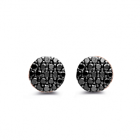 Boucles d'oreilles diamants noirs One More - Eolo 93G208A2
