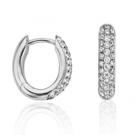 Boucles d'oreilles diamants One More - Ischia 051607A