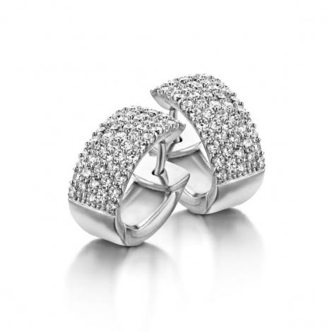 Boucles d'oreilles en argent serties de zirconium Naiomy Silver Silver - Femme - Claire - N3A08
