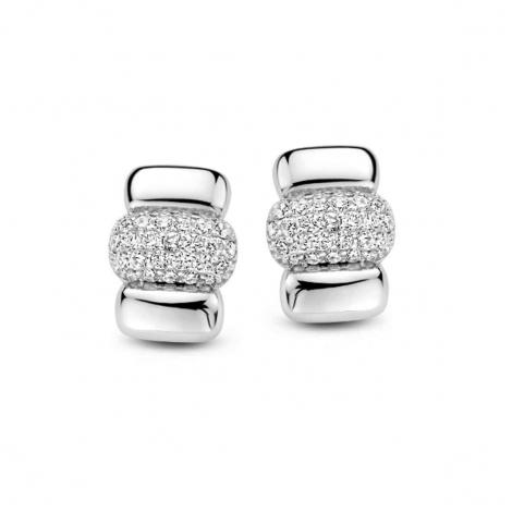 Boucles d'oreilles en argent serties de zirconium Naiomy Silver Silver - Femme - Fantasia - N1D56