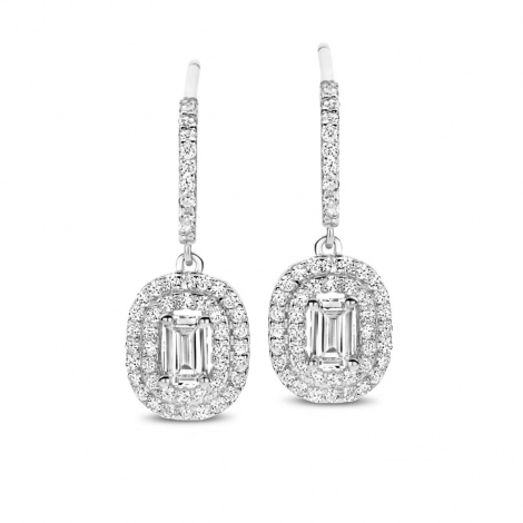 Boucles d'oreilles en argent serties de zirconium Naiomy Silver Silver - Femme - Vaiarava - N1A53
