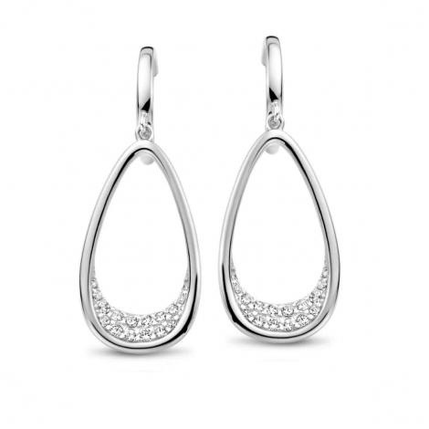 Boucles d'oreilles en argent serties de zirconium Naiomy Silver Silver - Femme - Yasuji - N1K53
