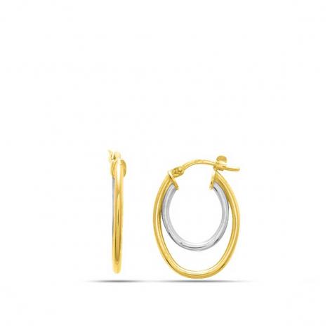 Boucles d'oreilles fantaisie 2 Ors 1.05 g Leïla - 652006