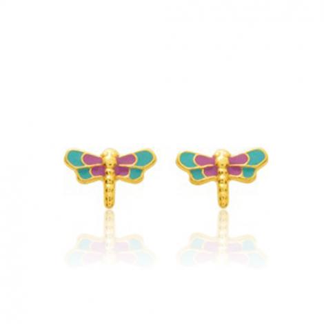 Boucles d'oreilles Libellule Or Jaune Esha - 650092