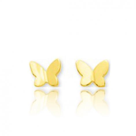 Boucles d'oreilles Papillon Or Blanc Mary - 650017