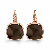 Boucles d'oreilles Quartz Fumé et diamants One More - Pantelleria 051390V3