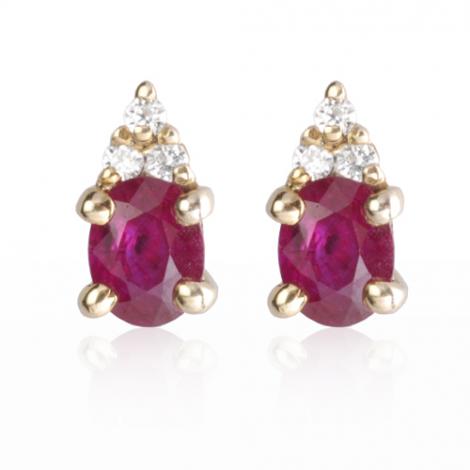Boucles d'oreilles rubis diamant Adèle - BO0688-RU