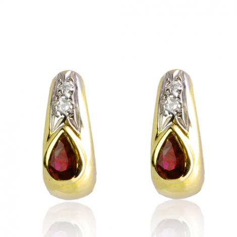Boucles d'oreilles rubis diamant Anissa - BO01426RU