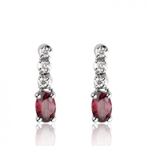 Boucles d'oreilles rubis diamant Celestis - BO1151-RU