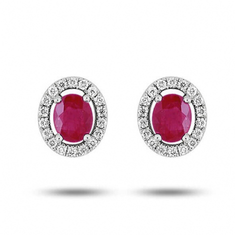 Boucles d'oreilles rubis diamant Charlotte - 7VK240GRB