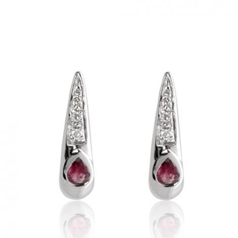 Boucles d'oreilles rubis diamant Clara - BO01421RU