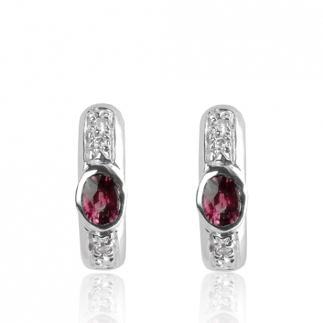 Boucles d'oreilles rubis diamant Clarisse - BO01425RU