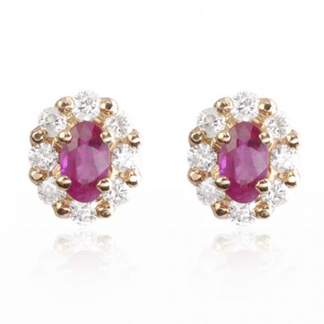 Boucles d'oreilles rubis diamant Dakota - BO1104-RU