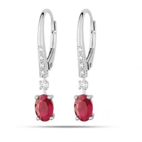 Boucles d'oreilles rubis diamant Dalia - 7W317GRBB2