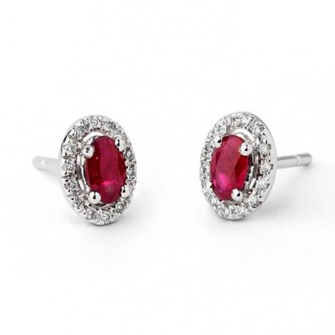 Boucles d'oreilles rubis diamant  - E5203FMPWAY0k
