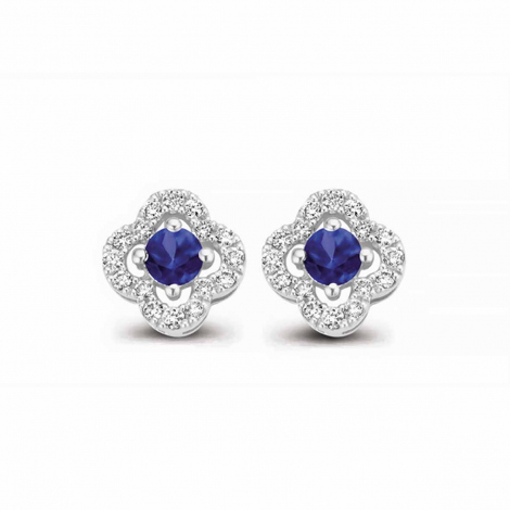 Boucles d'oreilles saphir bleu et diamants One More - Salina 062777SA