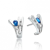 Boucles d'oreilles saphir diamant Or Blanc Athéna - BO830-SA
