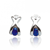 Boucles d'oreilles saphir diamant Or Blanc Diana - BO857-SA