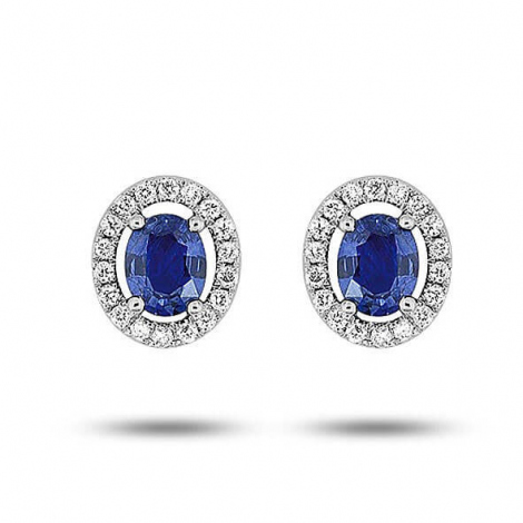 Boucles d'oreilles saphir diamant Or Blanc Klara - 7VK240GSB