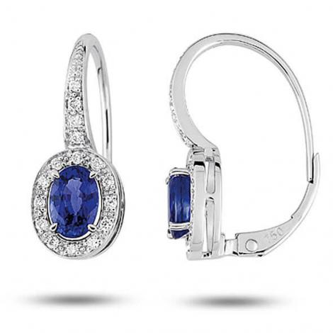 Boucles d'oreilles saphir diamant Or Blanc Vanessa - 7313GSKB2