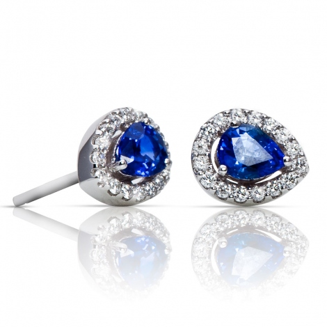 Boucles d'oreilles saphir diamants One More - Salina 047592SA