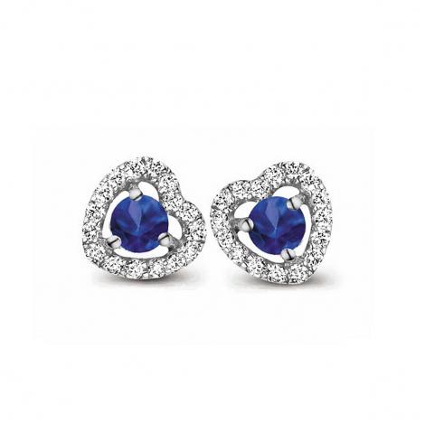 Boucles d'oreilles saphir et diamants One More - Salina 048357SA