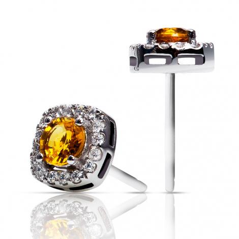 Boucles d'oreilles saphir jaune et diamants One More - Salina 047570JA
