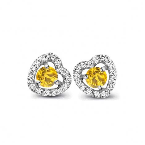 Boucles d'oreilles saphir jaune et diamants One More - Salina 048357JA