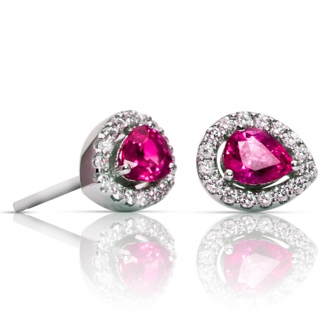 Boucles d'oreilles saphir rose et diamants One More - Salina 047592XA