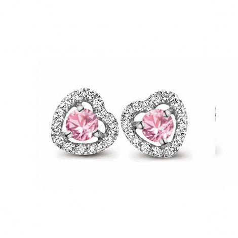 Boucles d'oreilles saphir rose et diamants One More - Salina 048357XA