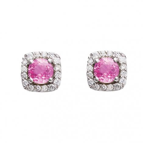 Boucles d'oreilles saphir rose et diamants One More - Salina 47570XA