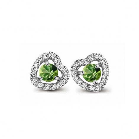 Boucles d'oreilles saphir vert et diamants One More - Salina 048357EA